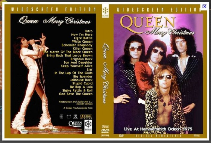 Pirated DVD of Queen with my image of Freddie Mercury. Ripped off again.