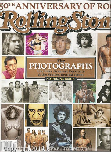 Rolling Stone 50th Anniversary Issue.