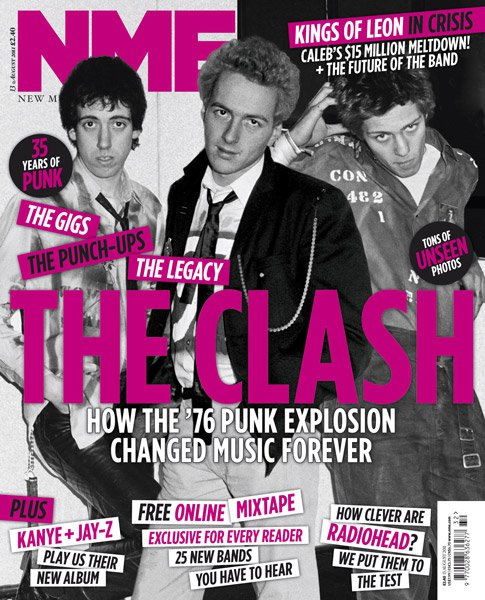 Front Cover NME with my image of The Clash