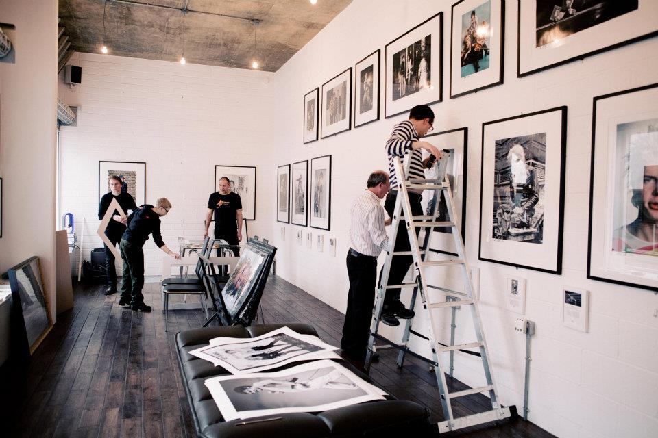 Setting up for my Punk Era Exhibition